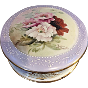 Exquisite Limoges Hand Painted Porcelain Lidded Box