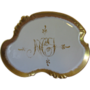 Limoges Dresser Tray W.G. Co. - Gold Trim