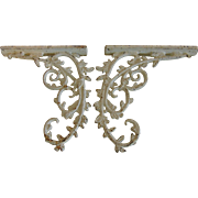 Very Old Cast Iron Bracket Set