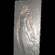 Art Nouveau Lg. Copper Diana Goddess of the Hunt