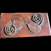 Vintage Rebajes Copper Cigar/Cigarette Box