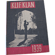 """1939 Baylor Year Book """"Klif Klan"""""""
