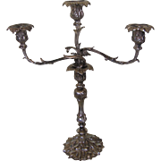Exquisite Large Silver Plate Candleabra