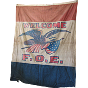 1910 Fraternal of Eagles Lg, Banner/Flag