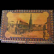 Vintage Burnet Wood Music box (Wien-Austria)