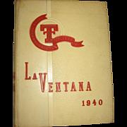 1940 Texas Tech La Ventana Yearbook