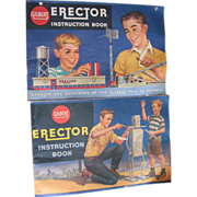 Gilbert Erector Instruction 2 books 1959