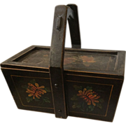 Antique Chinese Wedding Basket or Box