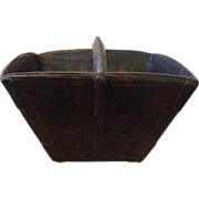SOLD Antique Chinese Rice Bucket