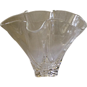 Steuben Crystal Hankerchief Vase, Mint Condition