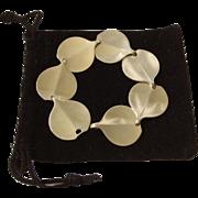 Hans Hansen Sterling Silver Modernist Bracelet, c. 1940