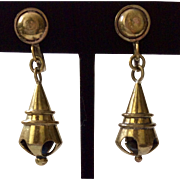 RARE Hubert Harmon Taxco Brass Earrings