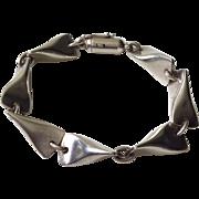 Georg Jensen Denmark Sterling Silver Bracelet 104B, c. 1955
