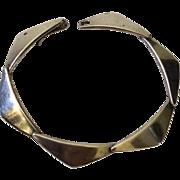 """Hans Hansen Denmark Modernist Sterling Silver """"Peak"""" Bracelet"""