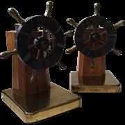 Chase Captain's Wheel Bookends, Walter Von Nessen