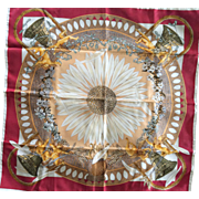 Amours: LIKE NEW Hermes Jacquard Silk Scarf with Hermes Box