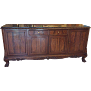 SALE French Buffet Louis XV style with cabriolet legs and marble top