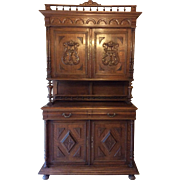 SALE French Oak Hutch Henri II Style