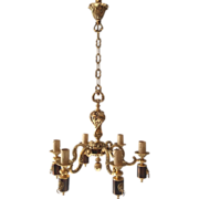 REDUCED French bronze chandelier Louis XVI style