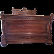 SALE French Walnut Bed Henri II Style