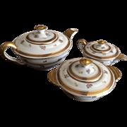 Limoges Tea Serving Set with Carafe, Sugar and Creamer