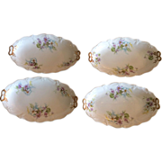 Limoges small oval serving plates, set of 4