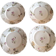 Small Embossed Limoges Plates, Set of 4