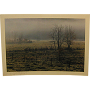 SALE Vintage 1971 DANIEL FARBER 'Autumn Fog' Photograph - in Art Institute of Chicago