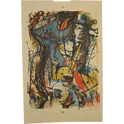 1967 WILLIAM ASHBY McCLOY (1913-2001) 'Serenade #2' Abstract Expressionist GUITAR PLAYER ...