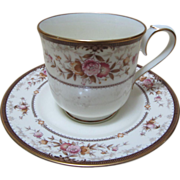 Vintage China Tea Cup & Saucer NORITAKE Japan Brently Copper Gold Floral.