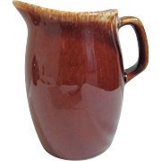 Hull Oven Proof USA Brown Drip Hull Pottery Jug Creamer Syrup Pitcher 4 1/2 ...