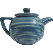 Beautiful vintage McCOY Blue Ringed Design Teapot!