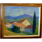 "Spanish Tiles, 1948, (Image Size) 19 1/2 x 23"""