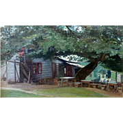 """Peter's Road House,"" 1932, Oil on Canvas applied to board, 16 x 27"" (image ..."