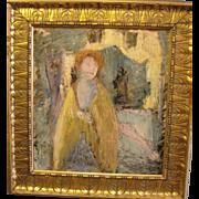 "Rare Symbolist-School painting, ca 1910, 23 x 20.75"" (image size)"
