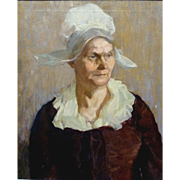 """SALE """"Dutch Woman,"""" Museum copy of 17th century painting, Oil on Canvas, 24 x 20 ..."""