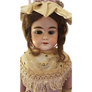 Antique Ernst Heubach Shoulder Head Doll in Original Outfit Gorgeous