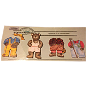 SALE Vintage Wooden Paper Doll Bethany Farms Papa Bear