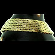 Vintage 1970s CHRISTIAN DIOR Germany Multi-Strand Slinky Link Chain Goldtone BRACELET