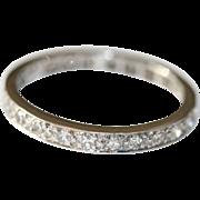 Vintage Art Deco 18 carat white gold diamond eternity set 0.60 tcw size 7 ...