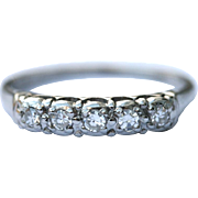 Lambert Brothers Vintage Platinum diamond half eternity ring