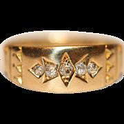 """Harry to Jess"" Fine Antique 18 carat yellow gold diamond gypsy ring - circa 1890"