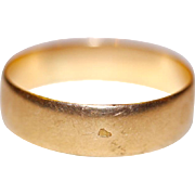 Fine Antique French 18 carat rose gold wedding band ring size 5.5 - circa 1900