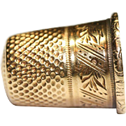 Fine Antique French Victorian period 18 carat yellow gold thimble - circa 1880, hallmarked wit