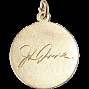 Antique TIFFANY & CO. 14 carat gold medallion pendant - Edwardian, circa 1905-1910