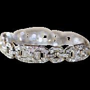 Vintage Art Deco French Platinum and 18 carat gold Diamond bracelet - Hallmarked, circa 1930
