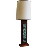 Mid Century Modern Wooden Rectangular Table Lamp