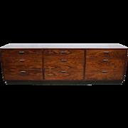 Danish mid-century rosewood low sideboard dresser Milo Baughman style