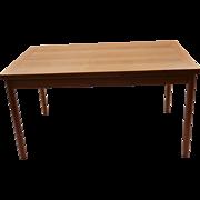 Danish Mid Century Modern Teak Extendable Dining Table