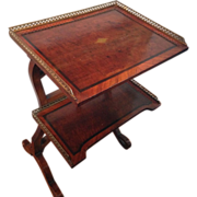 "SALE Table A Ecrire with ""Mon Alph Giroux Paris"" Plaque, 19th Century"